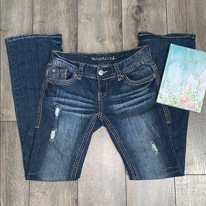 Maurice's Vintage Distressed Denim Jeans (1/2 R)
